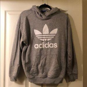 Adidas Grey Hoodie w/ logo!